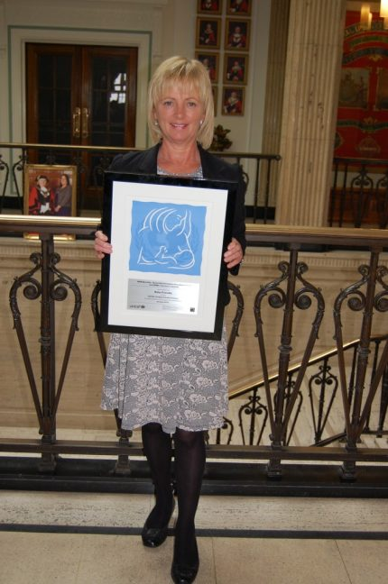 Diane Kistell with the BFI accreditation Stage 3 certificate.