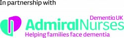 Admiral nurse logo with Dementia UK partnership South West Yorkshire Partnership NHS Foundation Trust