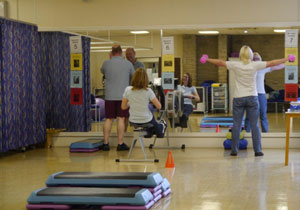 group of people doing circuits in gym South West Yorkshire Partnership NHS Foundation Trust