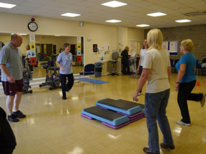 group of people doing exercise in gym South West Yorkshire Partnership NHS Foundation Trust