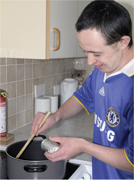 man cooking South West Yorkshire Partnership NHS Foundation Trust