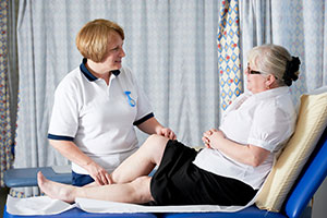 physiotherapist with patient South West Yorkshire Partnership NHS Foundation Trust