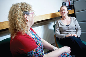 two women having speech therapy assessment South West Yorkshire Partnership NHS Foundation Trust