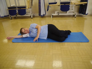 woman doing core stability exercises South West Yorkshire Partnership NHS Foundation Trust