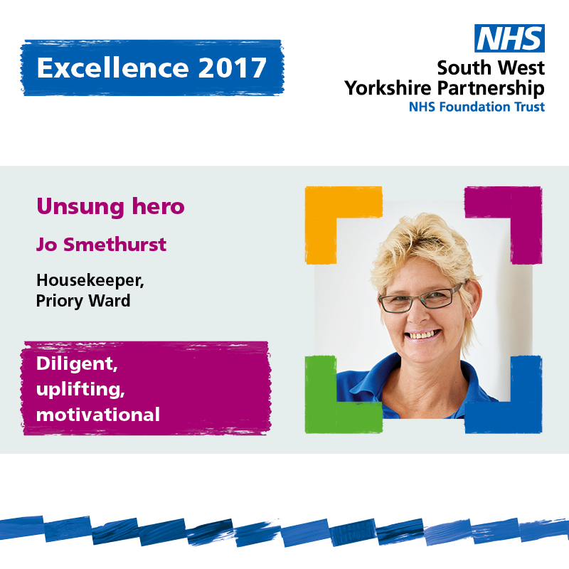 Excellence chair winner Jo Smethurst South West Yorkshire Partnership NHS Foundation Trust