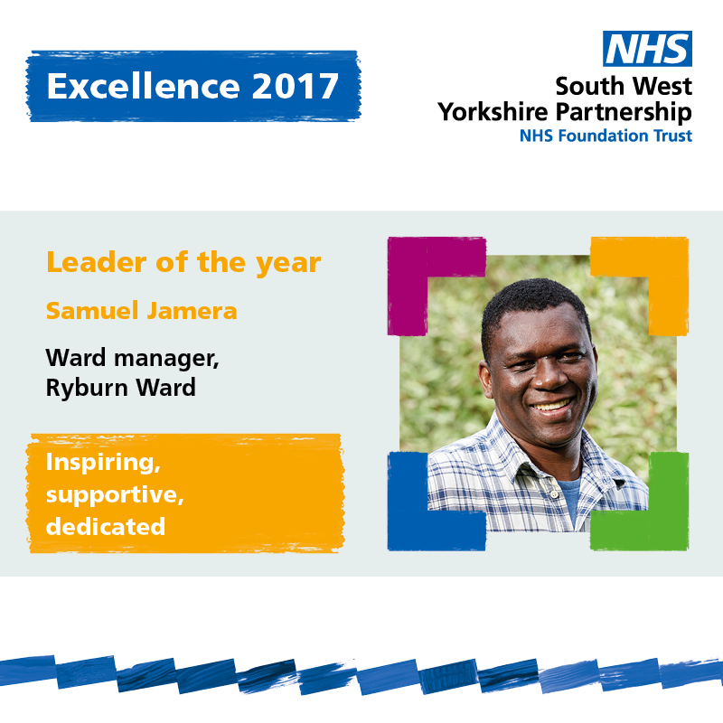 Excellence leader of the year Samuel Jamera
