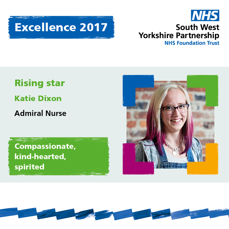 Excellence rising star Katie Dixon South West Yorkshire Partnership NHS Foundation Trust