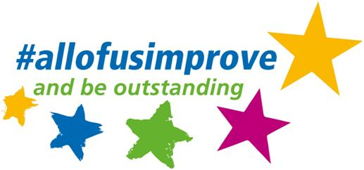 #allofusimprove logo South West Yorkshire Partnership NHS Foundation Trust