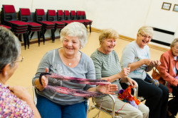 volunteers knitting South West Yorkshire Partnership NHS Foundation Trust