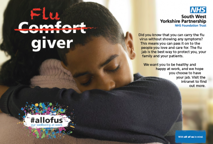 South West Yorkshire Partnership NHS Foundation Trust | Flu fighter campaign poster