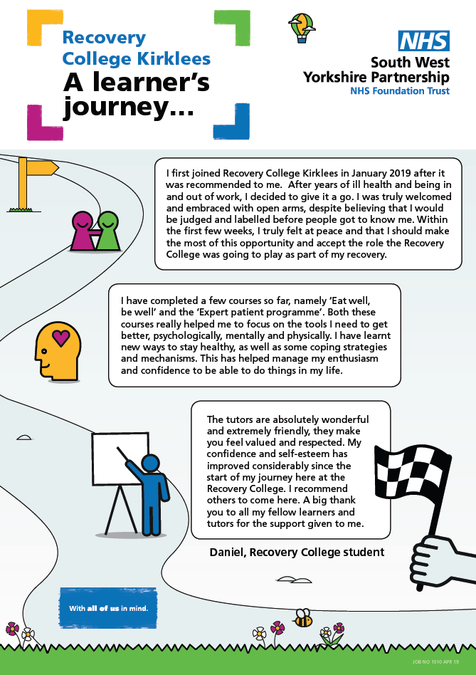 Recovery College | A learner's journey