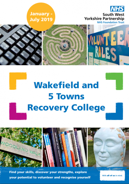 January to July prospectus cover | Wakefield Recovery College