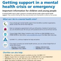 Read more: Getting support for children and young people in a mental health crisis or emergency